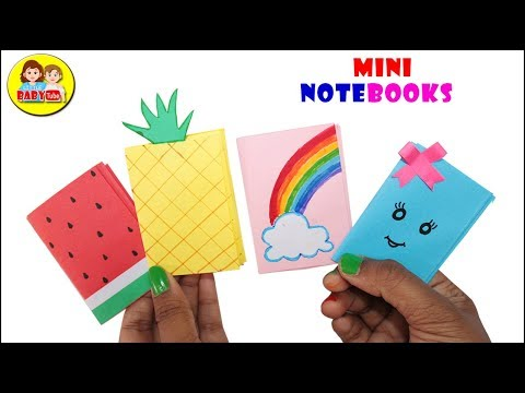 DIY Mini Note Book , Paper Crafts , How To Do Notepad