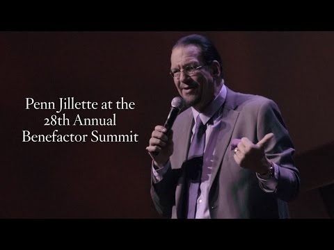 Penn Jillette at the Cato Institute Benefactor Summit