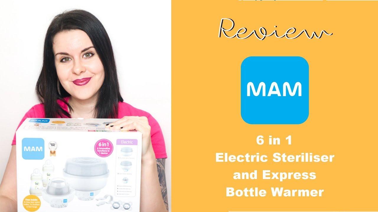 Comes with 2x MAM Easy Start Self ... MAM Microwave Steam Steriliser
