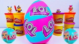 Ovo Surpresa GIGANTE da Boneca LOL SURPRISE em Português de Massinha Play Doh! L.O.L  SURPRISE