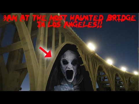 I WENT TO THE MOST HAUNTED BRIDGE IN LOS ANGELES AND FOUND THIS!! *SHADOWS*