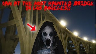 I WENT TO THE MOST HAUNTED BRIDGE IN LOS ANGELES AND FOUND THIS!! *SHADOWS* | MOE SARGI