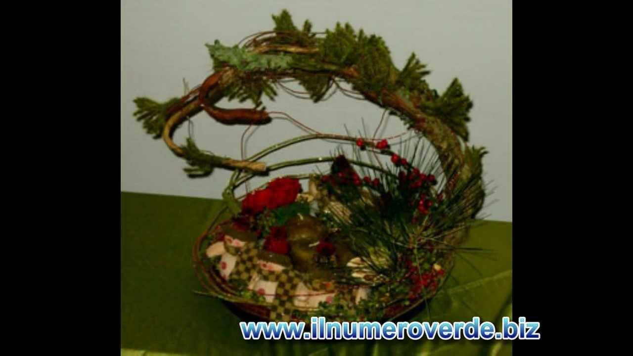 Composizioni floreali natalizie centrotavola di natale - Centrotavola natalizi con fiori finti ...