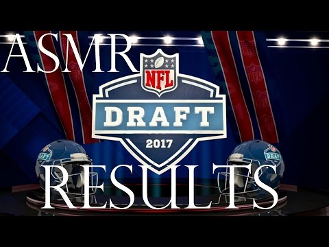 ASMR Sports: 2017 NFL Draft Results -  (Whispered Football A