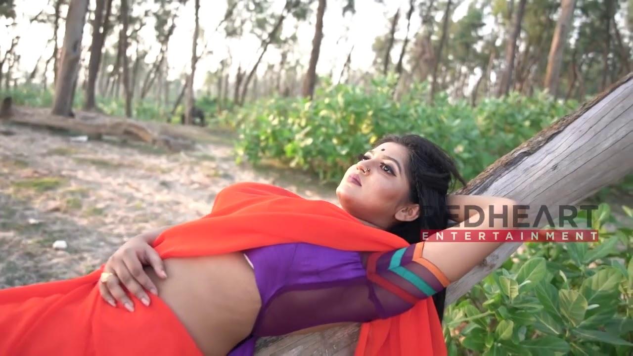 Download Saree Somudro || শাড়ি সমুদ্র || Triyaa Orange Saree || Model Photoshoot In Beach