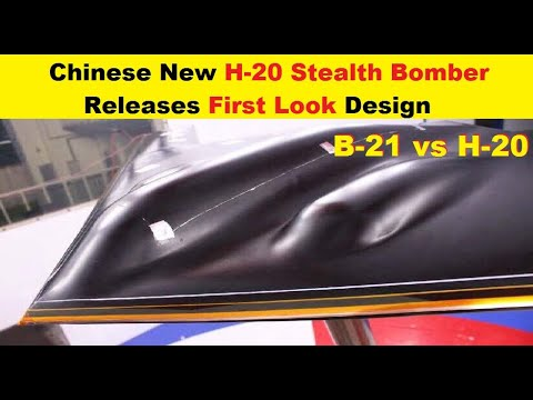 Chinese Air Force Releases First Look of its H-20 Stealth Bomber Design, B-21 vs H-20