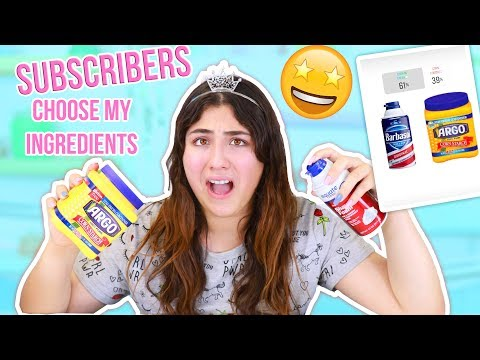 I LET SUBSCRIBER PICK MY SLIME INGREDIENTS ~ UGLY OR PRETTY SLIMES?  Slimeatory #371