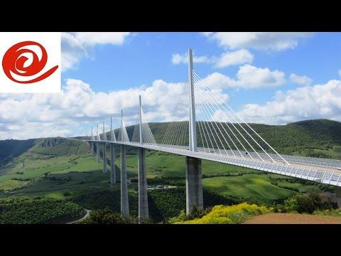 Motorhome Drive Across the Millau Viaduct, France
