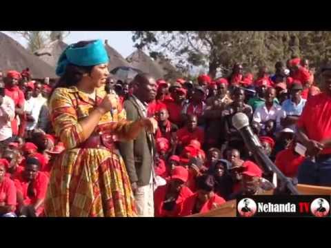 Elizabeth Tsvangirai addresses MDC rally in Chivhu
