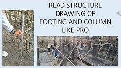 READ STRUCTURAL DRAWING LIKE PRO || COLUMN FOOTING DRAWING READING || CONSTRUCTION STRUCTURE DRAWING