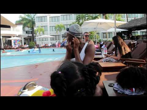 Caring for my African natural hair after swimming || Golden Tulip Accra Fun day ||