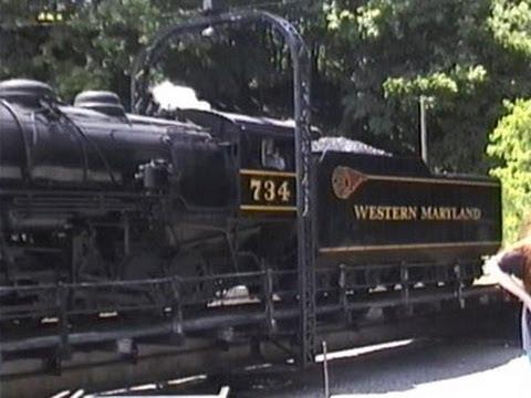 Classic Western Maryland Scenic Railway: Cumberland to Frostburg MD (July 20 1997)