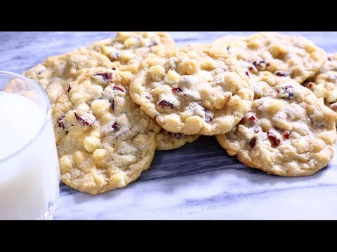White Chocolate Cranberry Cookies - Cooking With Queenii