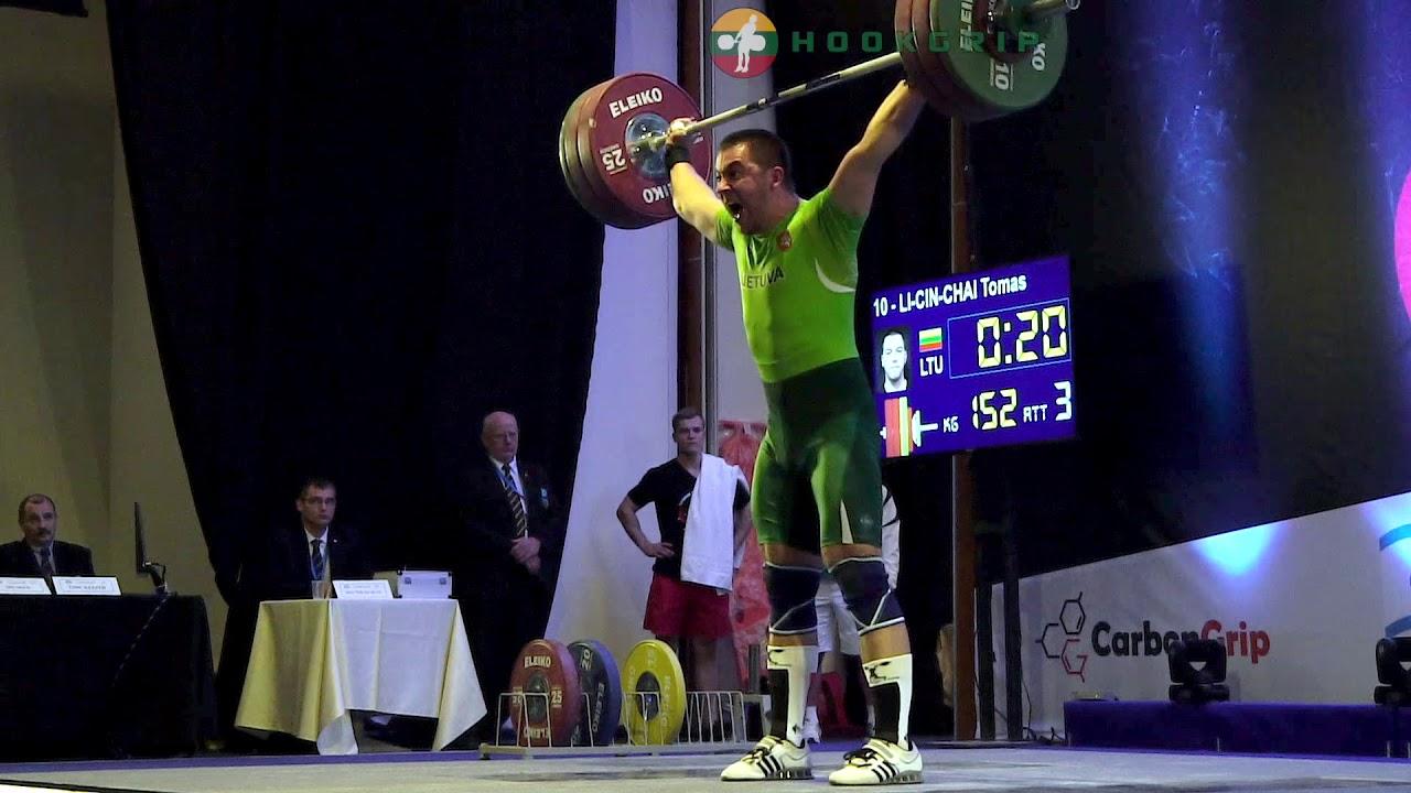 Download Tomas Lin-Cin-Chai (94) - 143kg, 148kg, & 152kg Snatches @ 2016 European U23 Championships