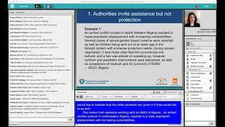Webinar: Negotiating Access for Humanitarian Protection