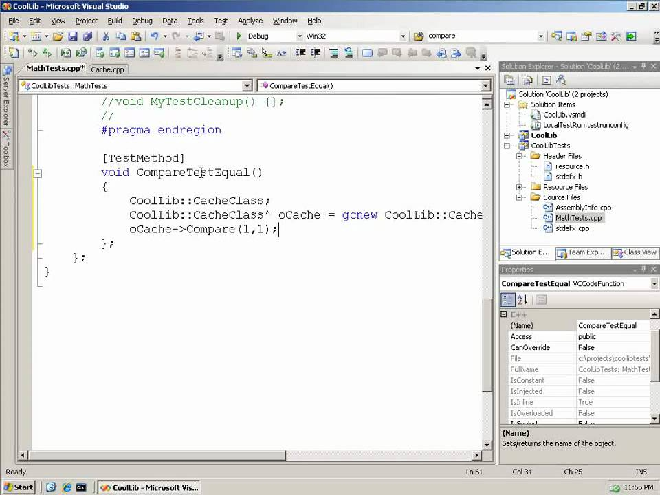 How Do I Create And Run Unit Tests In Visual C