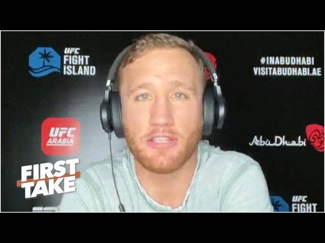 Justin Gaethje previews fight vs. Khabib Nurmagomedov at UFC 254 | First Take