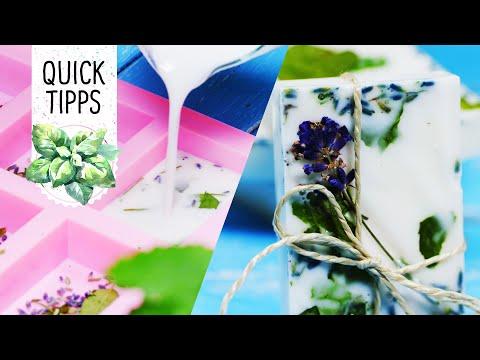 DIY: Duftende Kräuter-Lavendel-Seife Mit Sheabutter Selber Machen - Volmary QuickTipps