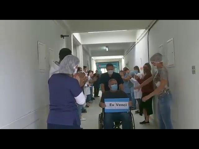 Confira depoimento de paciente recuperado da Covid-19 que recebeu alta em Pinheiral