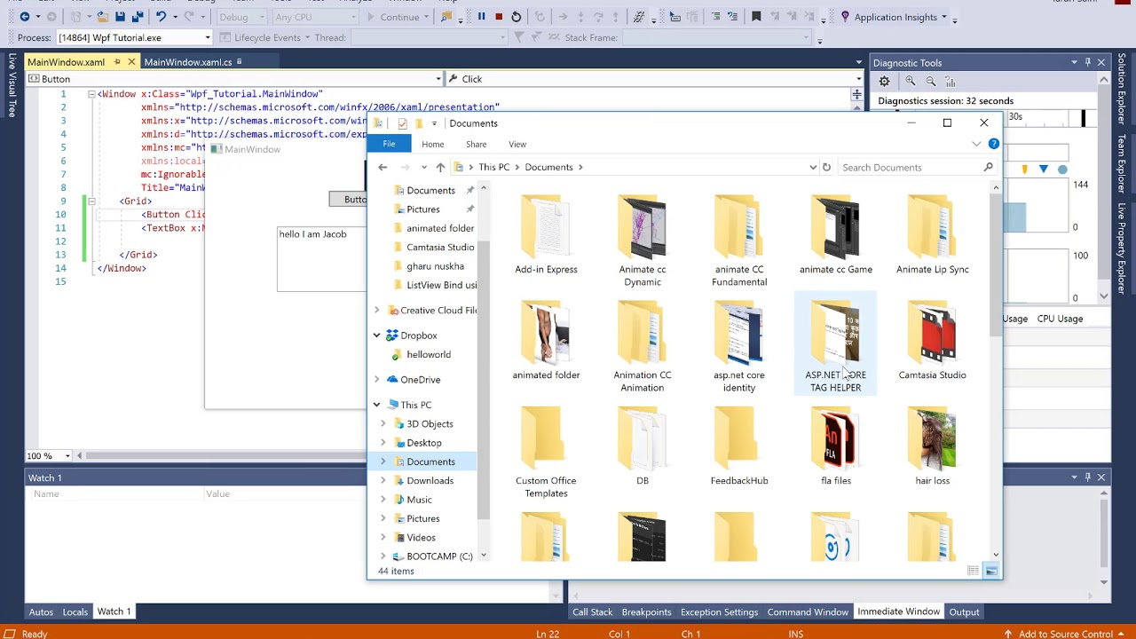 Save file dialog in WPF