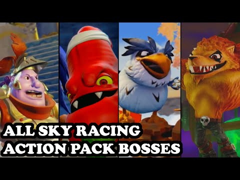 Skylanders Superchargers – All Bosses (Boss Pursuit) & Capture Scenes – Sky Racing Action Pack