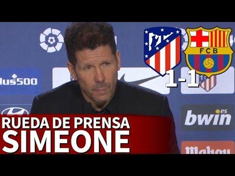 Atlético 1-1 Barcelona | Rueda de prensa de Simeone | Diario AS