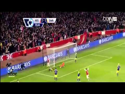 Arsenal FC 2-2 Swansea City ~ All Goals & Highlights 25/03/2014