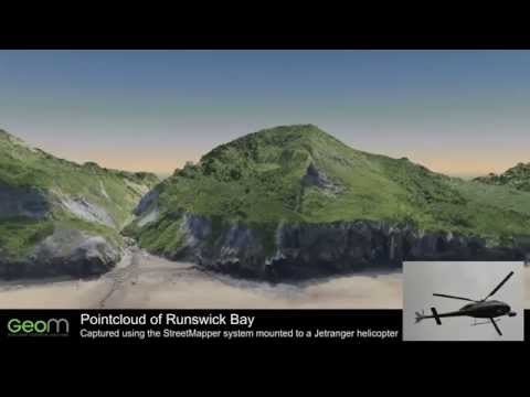 Whitby Airborne Coastal Surveying using LiDAR by GeoM