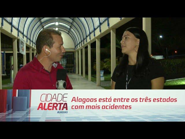 Alagoas está entre os três estados com mais acidentes