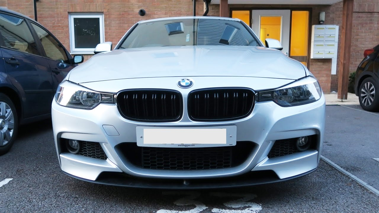 Bmw F30 Front Splitter Installed Front Lip Youtube