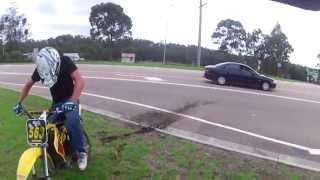 yz125 crash on highway