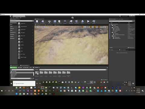 Unreal Engine Landscape Using Material Blending Test 1