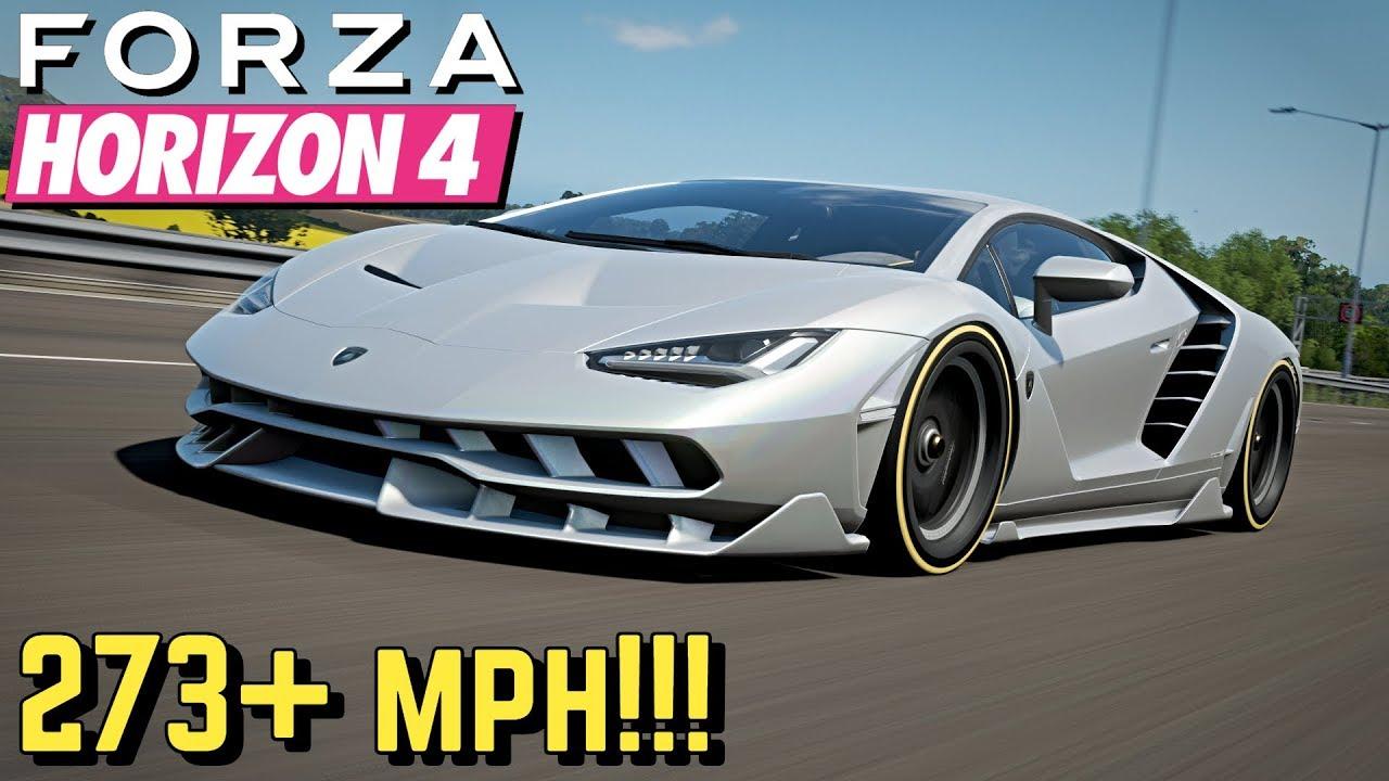 Forza Horizon 4 273 Mph Lamborghini Centenario Setup Youtube