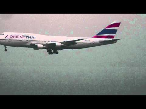 Orient Thai B747-300 Landing at HKG