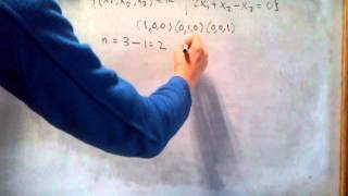 ÁLGEBRA - Cómo calcular la dimensión de un subespacio vectorial