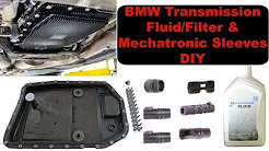 How To Change ZF BMW Transmission Mechatronic Sleeves + Fluid/Filter