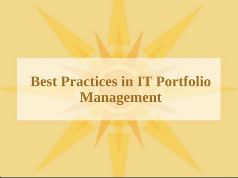 Best Practice in IT Portfolio Management and ERP Resource Planning