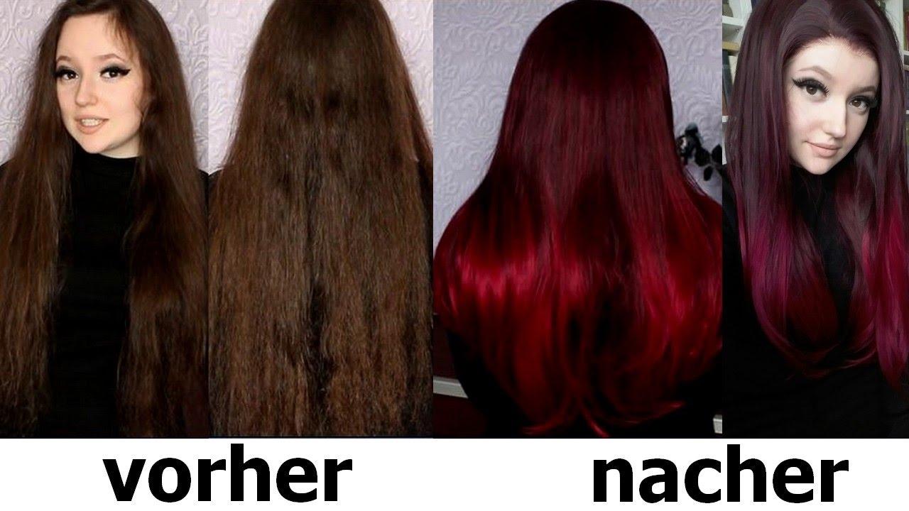 Rot braune ohne haare blondieren färben Braune Haare