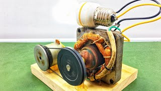 Make Free Energy Generator With DC Motor Using Electricity New Science Project At Home