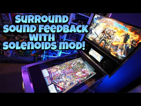 Arcade1Up Pinball Mod - Surround Sound Feedback With Solenoids! from COOLTOY