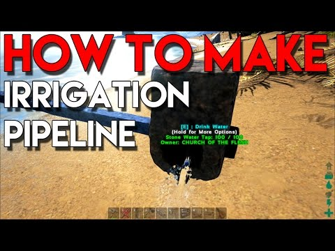 ARK Survival Evolved - How To Make Stone Irrigation Pipeline (How to get Water Source in Base)