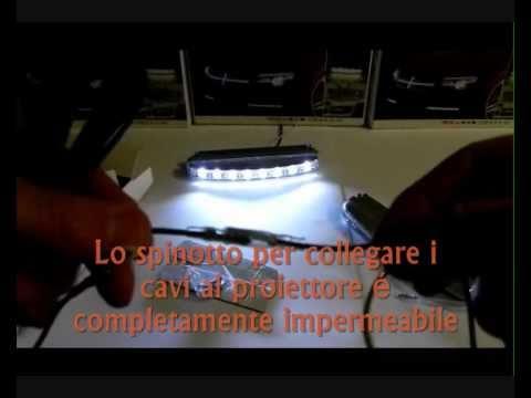 Coppia luci daylight drl smd 8 led 1w 12v 7000k brixia for Luci tubolari a led