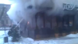 Взрыв и пожар  Одесская обл  Измаил  Бар «У фонтана». Not Fresh News(, 2015-02-12T00:32:25.000Z)