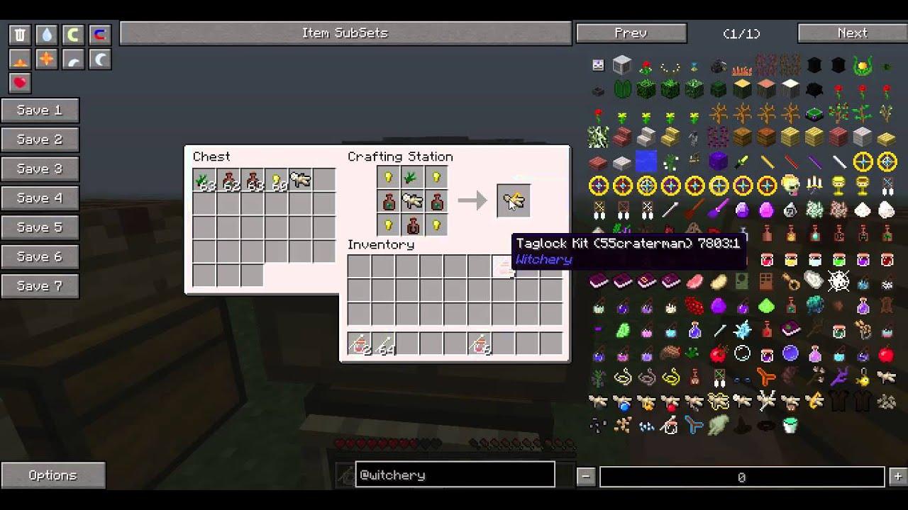 Minecraft witchery mod: Poppets - YouTube
