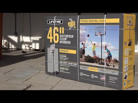 Lifetime Portable Basketball System Unboxing And Review