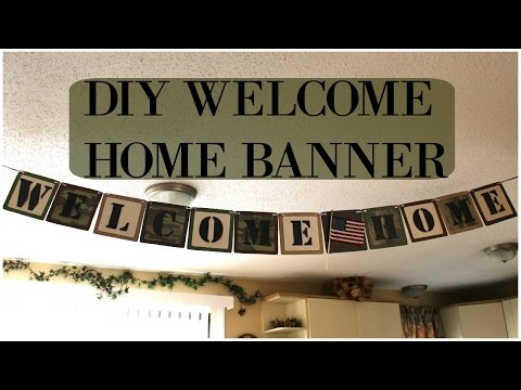 DIY: Welcome Home Banner | Homecoming Banner