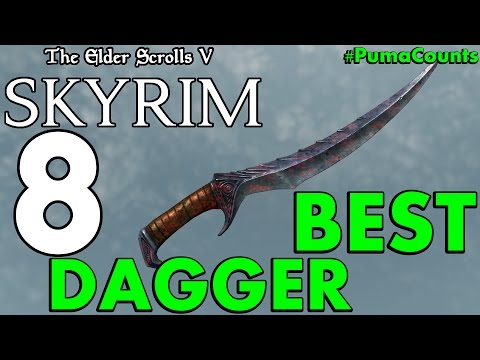 Top 8 Best One Handed Daggers In The Elder Scrolls Skyrim Remastered #PumaCounts