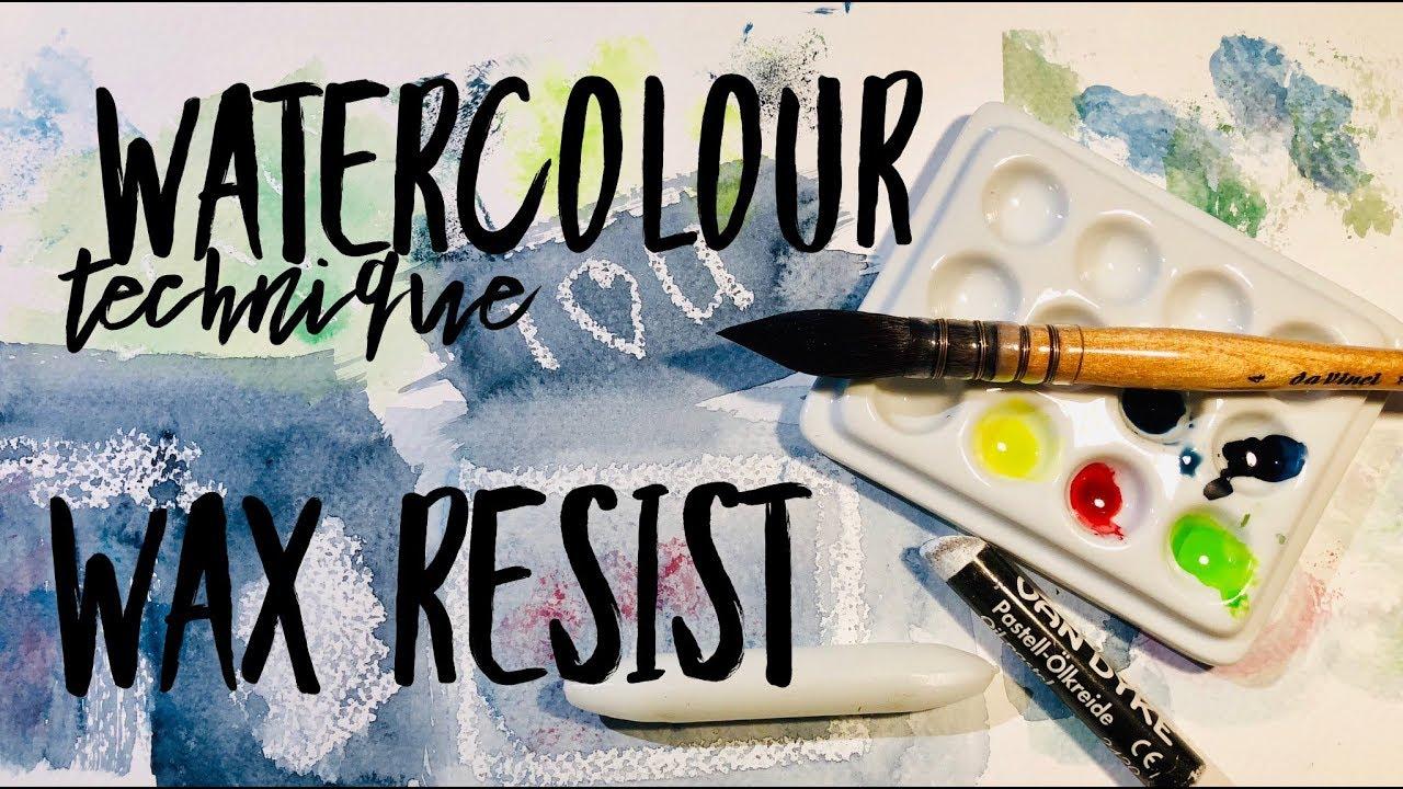832cdc071436a Watercolor Technique: Wax Resist ~ WATERCOLOUR by Scarlett Damen ...