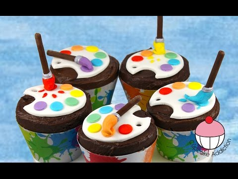 Artist Paint Palette Cupcakes - Back to School with Cupcake Addiction