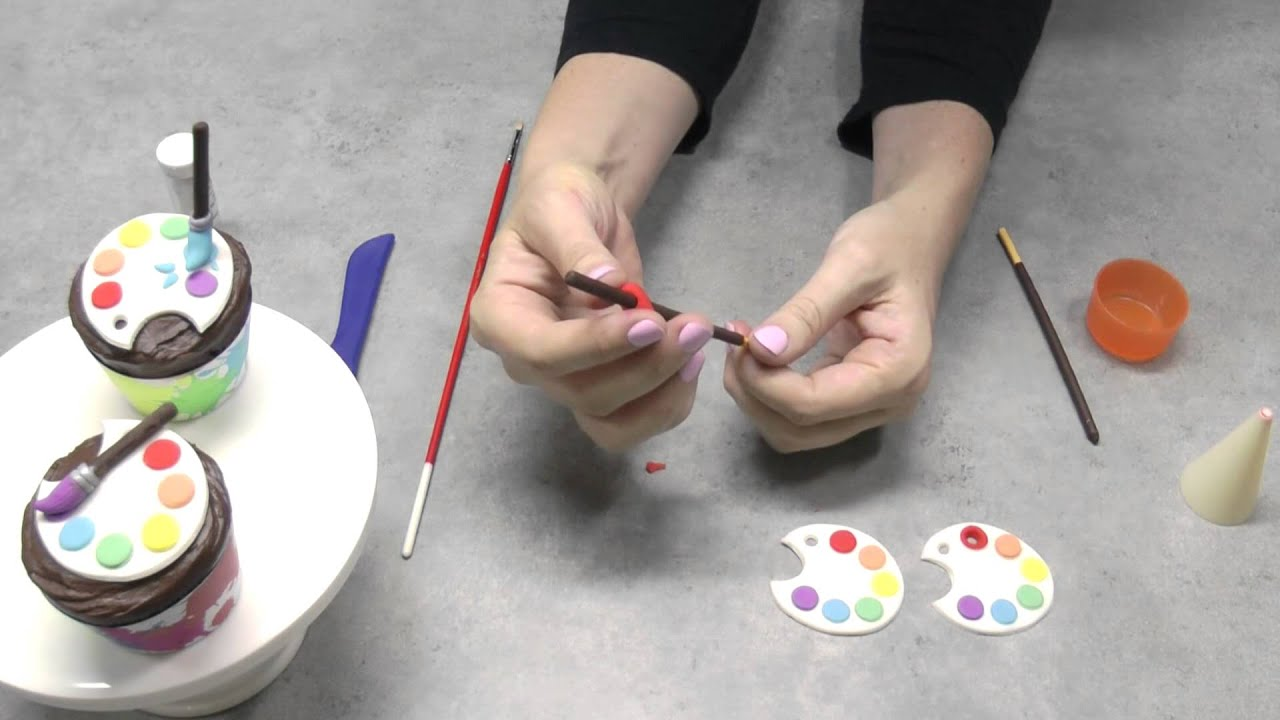 Artist Paint Palette Cupcakes - Back to School with Cupcake ...